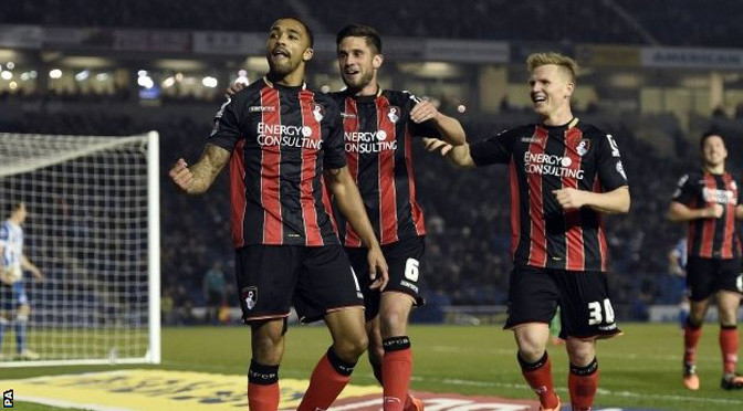 Championship: Brighton 0-2 Bournemouth