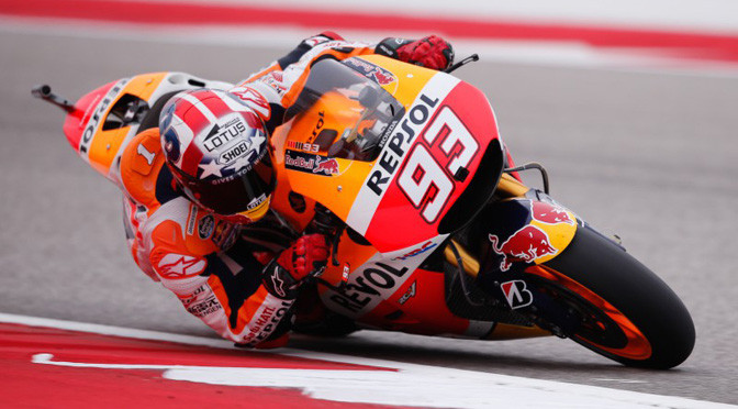 MotoGP:  Marquez takes pole at CoTA after dramatic Q2