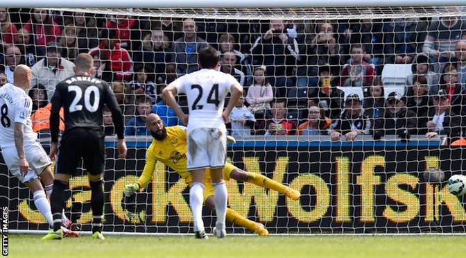 Premiership: Swansea 1-1 Everton